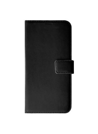 Microsonic Oppo Reno 4 Lite Kılıf Delux Leather Wallet Siyah